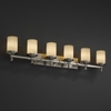 Justice Design (FSN-8536) Deco 6-Light Bath Bar from the Fusion Collection