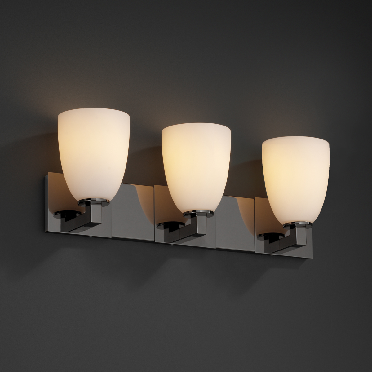 Justice Design (FSN-8923) Modular 3-Light Bath Bar from the Fusion Collection