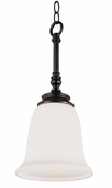 Garland 1 Light Mini-Pendant shown in Rubbed Oil Bronze by Trans Globe Lighting