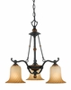 Quoizel Lighting (GE5103SE) Genova 3-Light Dinette Chandelier in Stonehedge Finish