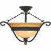 "Quoizel Lighting (GE1723SE) Genova 22.75"" Semi-Flush Mount in Stonehedge Finish"