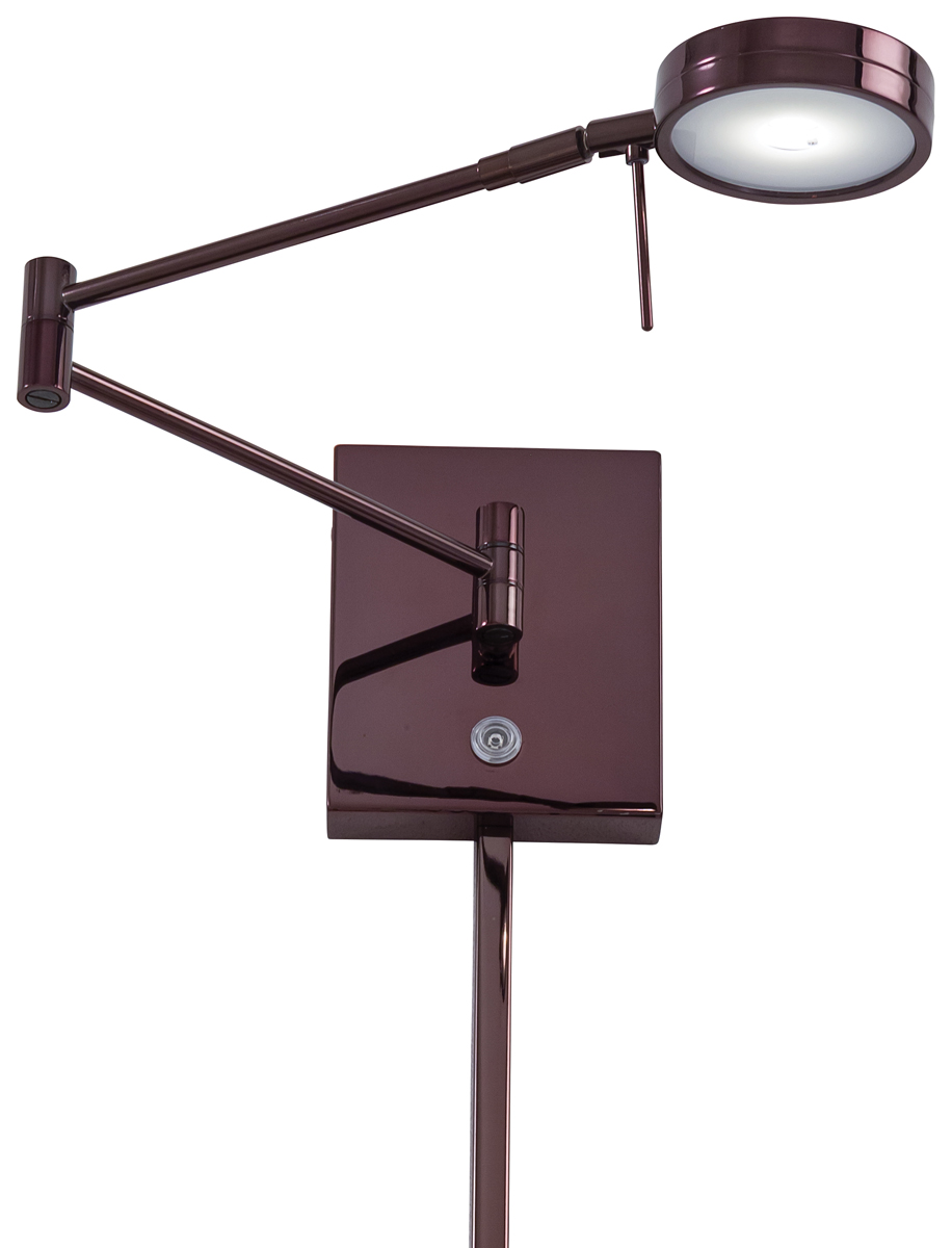george kovacs p4308 puck 1 light led swing arm wall lamp. Black Bedroom Furniture Sets. Home Design Ideas