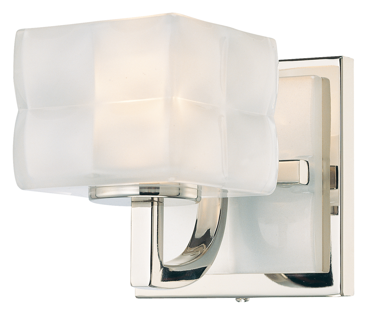 george kovacs lighting p5451 squared 1 light bath fixture shown in