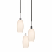 Glass Pendants-Barrel 3-Light Pendant shown in Polished Chrome by Sonnemen Lighting