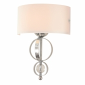 Golden Lighting (GLDN-1030-WSC) Cerchi Wall Sconce shown in Chrome with Etched Opal glass