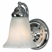 Golden Lighting (GLDN-5222-1) Centennial 1 Light Wall Sconce shown in Chrome with Marbled Glass