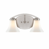 Golden Lighting (GLDN-7158-BA2) Accurian 2 Light Bath Vanity shown in Pewter with Opal Glass