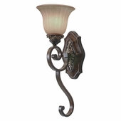 Golden Lighting Bristol Place 1 Light Wall Sconce in New World Bronze Finish 2501-1W-NWB