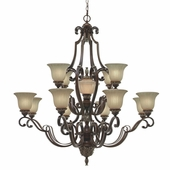 Golden Lighting Bristol Place 13 Light Chandelier in New World Bronze Finish 2501-13L-NWB