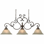 Golden Lighting Bristol Place Island Light in New World Bronze Finish 2501-10-NWB