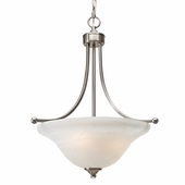 Golden Lighting Candace Pendant Bowl in Pewter Finish 1260-3P-PW