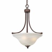 Golden Lighting Candace Pendant Bowl in Rubbed Bronze Finish 1260-3P-RBZ