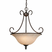 Golden Lighting Centennial RBZ Pendant Bowl in Rubbed Bronze Finish 1393-RBZ