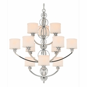 Golden Lighting Cerchi 3 Tier Chandelier in Chrome Finish 1030-363-CH