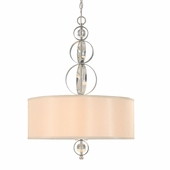 Golden Lighting Cerchi Pendant in Chrome Finish 1030-3P-CH