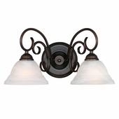 Golden Lighting Homestead Ridge 2 Light Vanity in Rubbed Bronze Finish 8505-2W-RBZ
