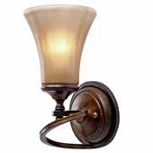 Golden Lighting Loretto 1 Light Wall Sconce in Russet Bronze Finish 4002-1W-RSB
