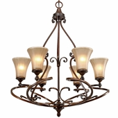 Golden Lighting Loretto 6 Light Chandelier in Russet Bronze Finish 4002-6-RSB