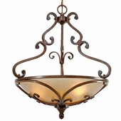 Golden Lighting Loretto Pendant Bowl in Russet Bronze Finish 4002-3P-RSB