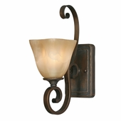 Golden Lighting Meridian 1 Light Wall Sconce in Golden Bronze Finish 3890-1W-GB