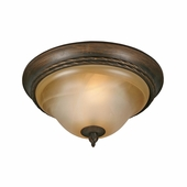 "Golden Lighting Meridian 13"" Flush Mount in Golden Bronze Finish 3890-13-GB"