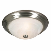"Golden Lighting Multi-Family 11"" Flush Mount  2 x 40W fixture in Pewter Finish 1260-11-PW"