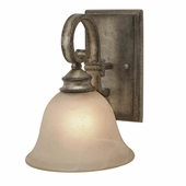 Golden Lighting Rockefeller FI 1 Light Wall Sconce in Forged Iron Finish 2488-1W-FI