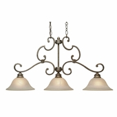 Golden Lighting Rockefeller FI Island Light in Forged Iron Finish 2488-10-FI