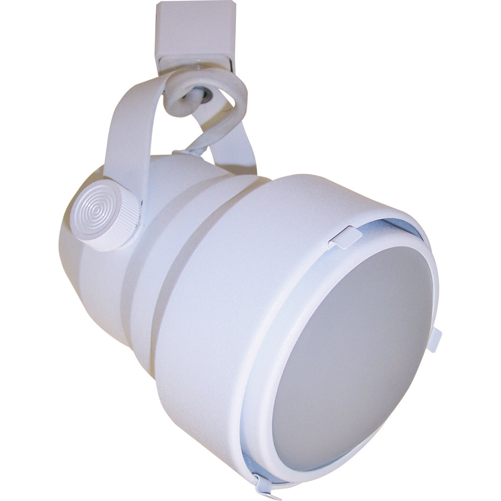 Style GU24 Shroud Fluorescent Track Fixture with Convex Frosted Lens ...