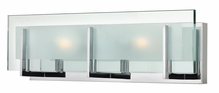 Hinkley Lighting (5652CM-LED) Latitude 2-Light LED Bathroom Vanity Fixture in Chrome with Clear Beveled Inside-Etched Shade