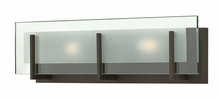 Hinkley Lighting (5652OZ) Latitude 2-Light Bathroom Vanity Fixture in Oil Rubbed Bronze with Clear Beveled Inside-Etched Shade