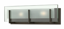 Hinkley Lighting (5652OZ-LED) Latitude 2-Light LED Bathroom Vanity Fixture in Oil Rubbed Bronze with Clear Beveled Inside-Etched Shade