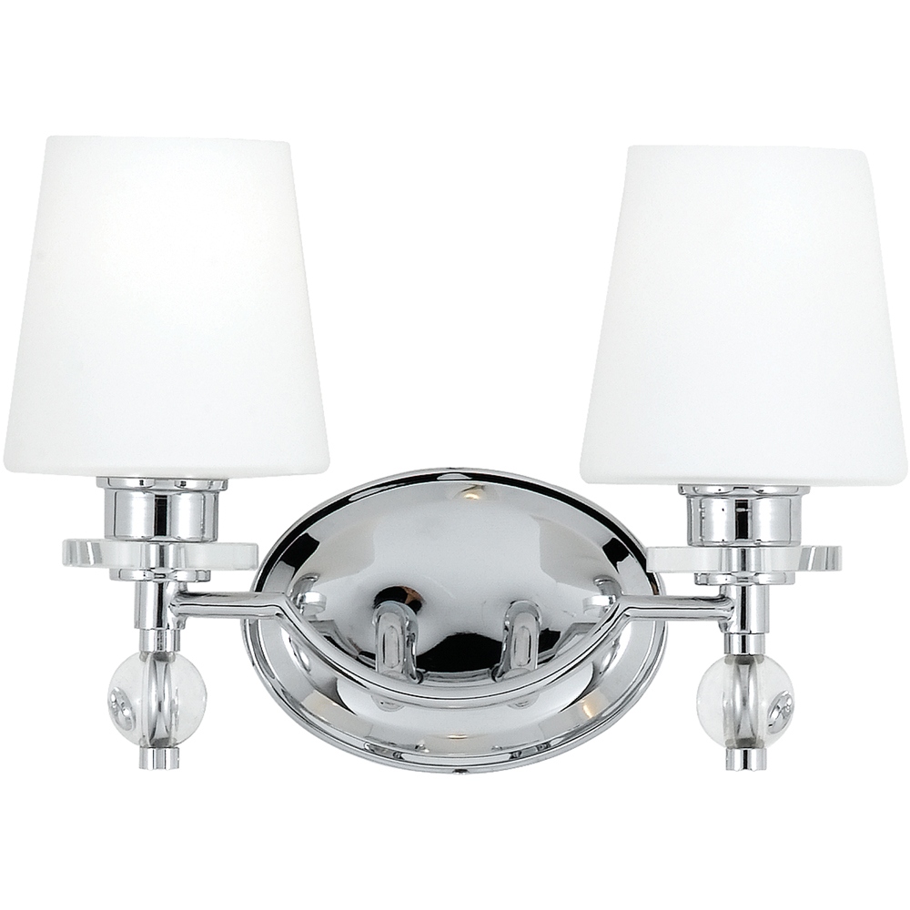 Hollister- Contemporary Style Hollister Bath Fixture In Polished Chrome Finish From Quoizel Lighting- HS8602C
