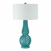 Horizons Collection (8485-TL) Chain Link 1 Light Table Lamp by AF Lighting