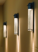 Hubbardton Forge Outdoor sconce: Airis medium; aluminum with options. Dark Sky friendly.