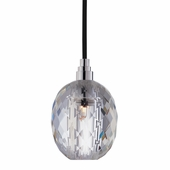 Hudson Valley Lighting (3506-002) Naples 1 Light Pendant shown in Polished Chrome with Black Cord