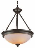 Hunters Lodge 3 Light Pendant shown in Rubbed Oil Bronze by Trans Globe Lighting
