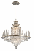 Corbett Lighting (170-010) Illusion 10 + 24 Light Extra Large Chandelier shown in Silver Leaf Finish