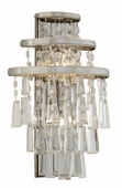 Corbett Lighting (170-12) Illusion 2 Light Wall Sconce shown in Silver Leaf Finish