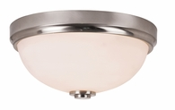 Infinity 1 Light Flush-mount shown in Brushed Nickel by Trans Globe Lighting