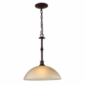 Jackson 1 Light Large Pendant shown in Oil Rubbed Bronze by Cornerstone Lighting