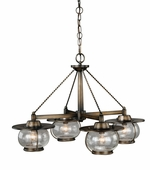 Vaxcel Lighitng (H0007) Jamestown 4 Light Chandelier