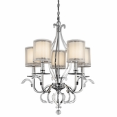 Jardine Chandelier 5 Light shown in Chrome by Kichler Lighting
