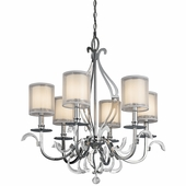 Jardine Chandelier 6 Light shown in Chrome by Kichler Lighting