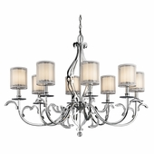 Jardine Chandelier Oval 8 Light shown in Chrome by Kichler Lighting