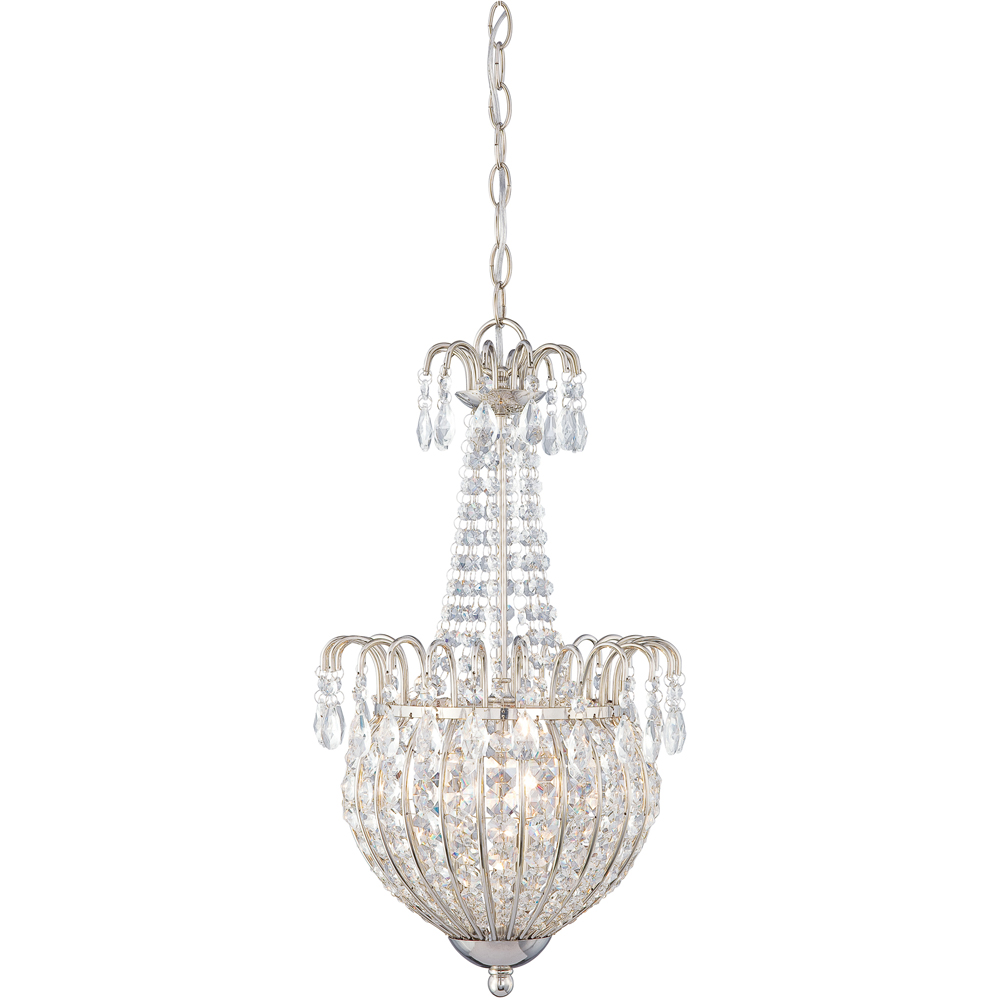 Jolene-  Style Jolene Pendant In Imperial Silver Finish From Quoizel Lighting- JLE2812IS
