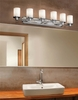 Justice Design (CLD-8516) Rondo 6-Light Bath Bar from the Clouds Collection