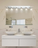 Justice Design (CLD-8706) Aero 6-Light Bath Bar from the Clouds Collection