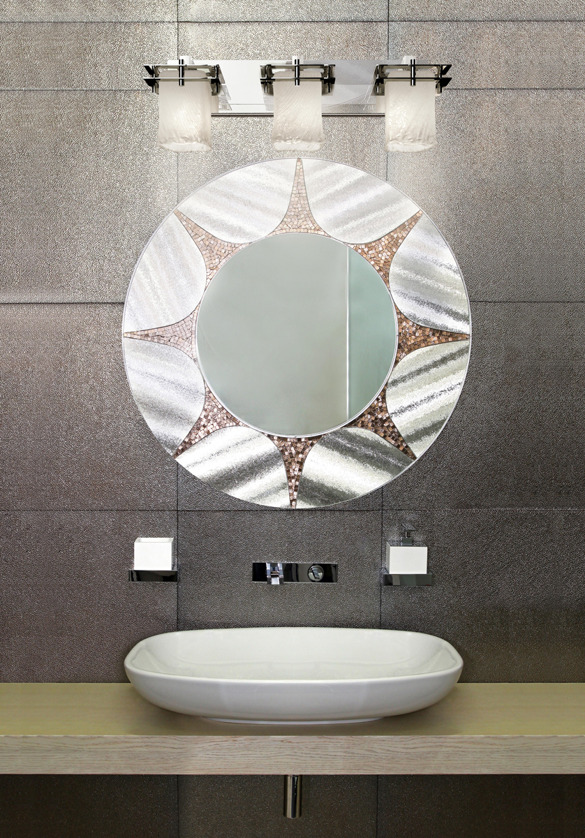 Justice Design (GLA-8173) Metropolis 3-Light Bath Bar from the Veneto Luce Collection