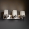 Justice Design (POR-8173) Metropolis 3-Light Bath Bar from the Limoges Collection